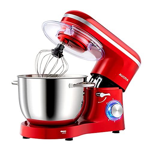 Aucma Küchenmaschine Knetmaschine 1400W, 6.2L Reduzierte Geräusche...