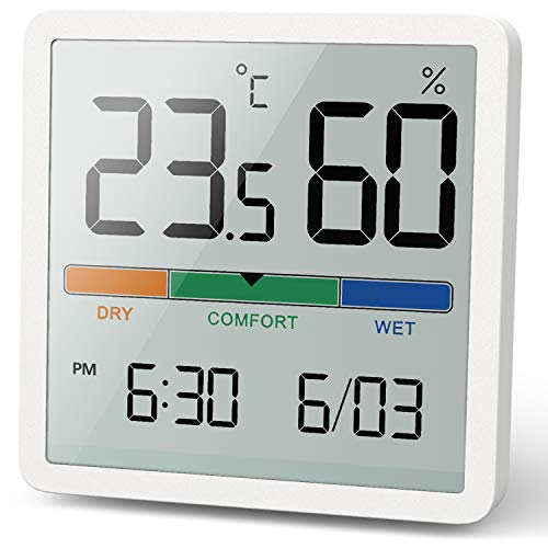NOKLEAD Digitales Thermo-Hygrometer, Tragbares Thermometer Hygrometer Innen...