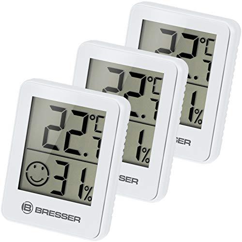 Bresser Thermometer Hygrometer Temeo Hygro Indicator 3er-Set zum Aufstellen...