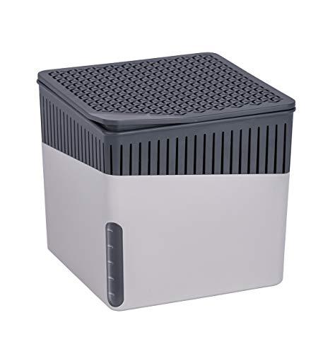 WENKO Raumentfeuchter Cube Grau 1000 g - Luftentfeuchter Fassungsvermögen:...