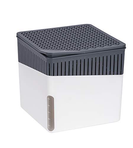 WENKO Raumentfeuchter Cube Weiß 1000 g - Luftentfeuchter...