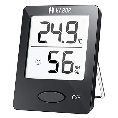 Habor Thermo-Hygrometer, Luftfeuchtigkeitsmessgerät Innen Digitales...