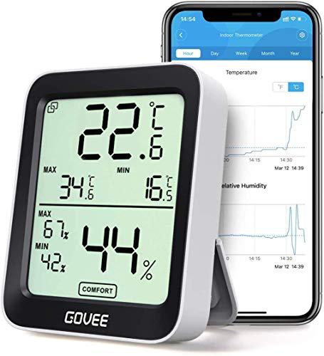 Govee Thermometer Hygrometer, Mini LCD Digital Thermometer Hygrometer Innen...