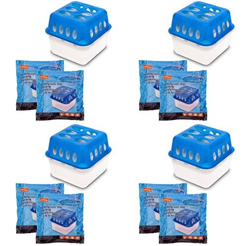 4X Ultra Fresh Luftentfeuchter Feuchtigkeits-Stopper mit Nachfüll-Beutel...
