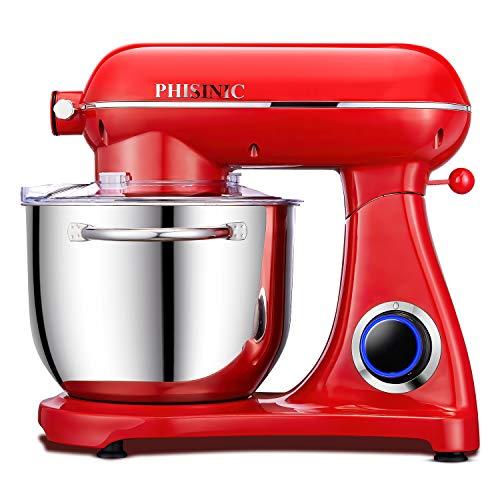 PHISINIC Küchenmaschine Knetmaschine (1800 W) leistungsstark, leise und...