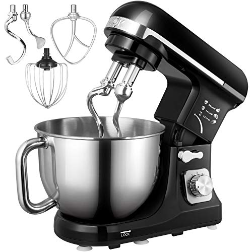 Küchenmaschine, Aicok 5L Weniges Geräusch Knetmaschine mit Doppelten...