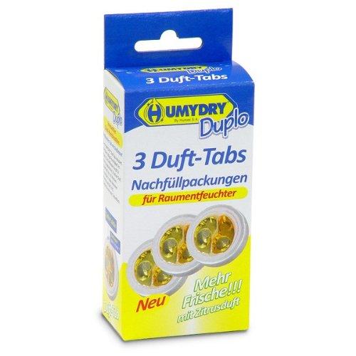 HUMYDRY Nachfüllpackungen Mini Tab 3x75g Zitrone für Luftentfeuchter ohne...