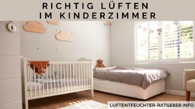 Richtiges Lüften im Kinderzimmer